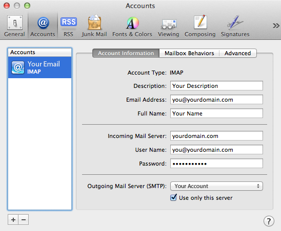 Email Settings Tutorial Screenshot