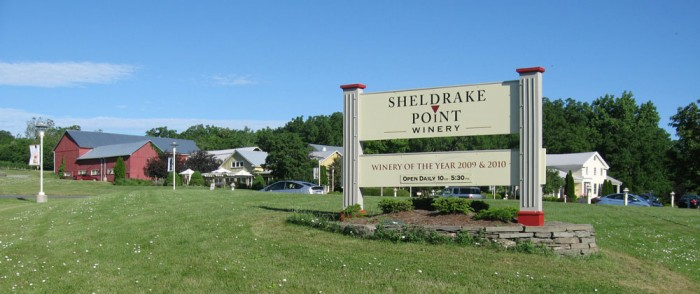 Sheldrake Point Winery Entrance