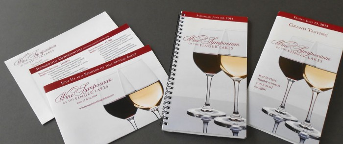 Wine Symposium of the Finger Lakes Sponsor Cards and Event Programs