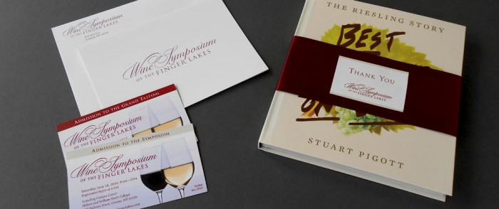 Wine Symposium of the Finger Lakes Thank you, Tickets and Bookwrap