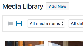 """Use the Media Library """"Add New"""" Button to Publish a PDF"""
