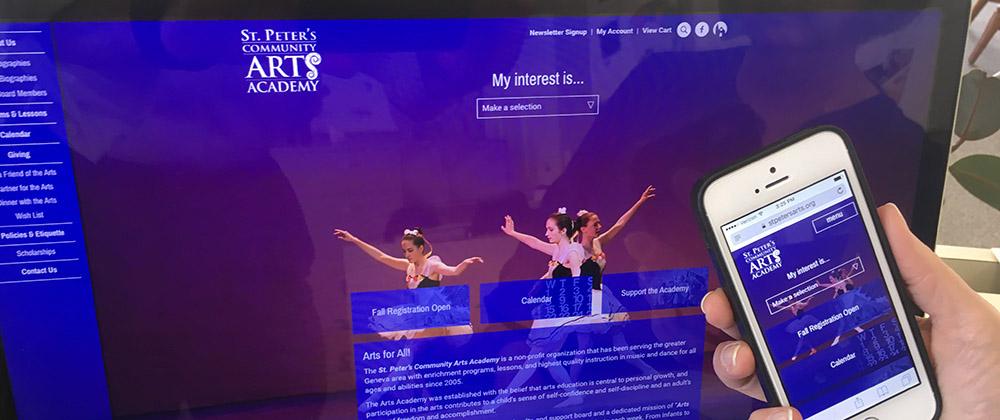 St. Peter's Community Arts Academy Website
