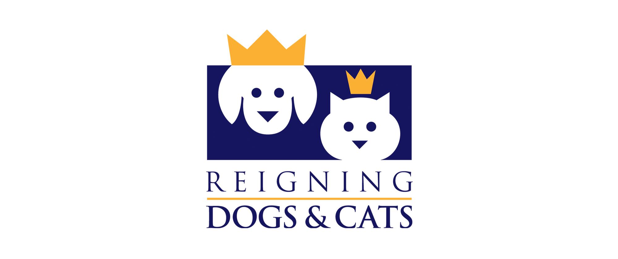 Reigning Dog & Cats Logo