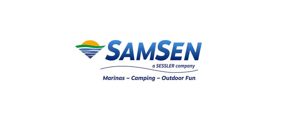 SamSen logo identity