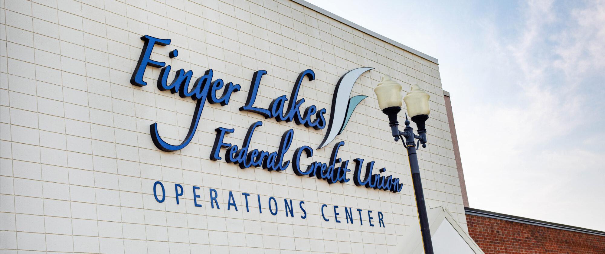 Finger Lakes Federal Credit Union Sign Brand Inhouse Design 1
