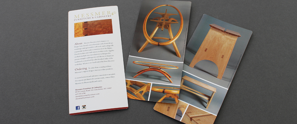 In House Graphic Design Messmer Furniture And Cabinetry Design Brochure
