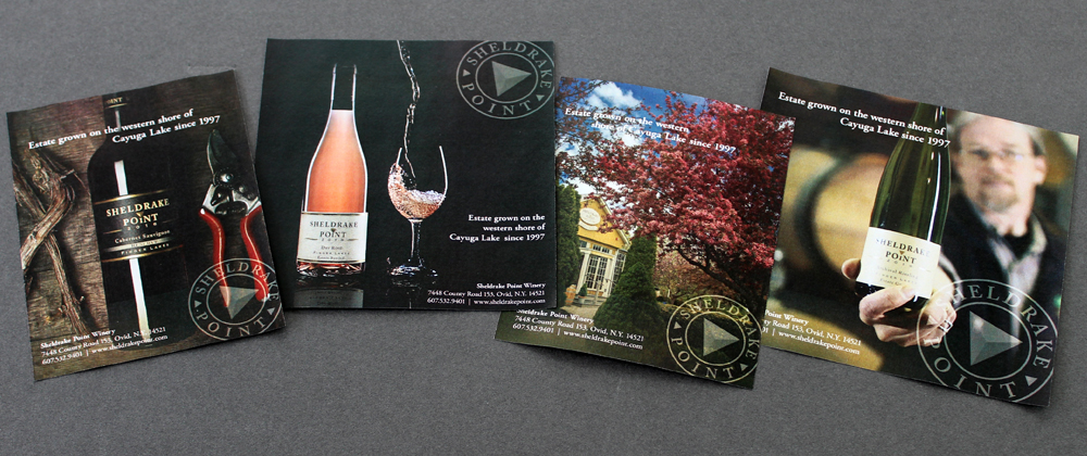 In House Graphic Design Sheldrake Point Winery Ad Campaign 1
