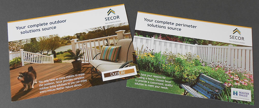 Secor direct mail cards brand