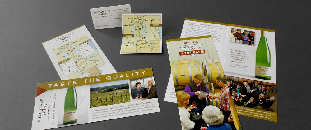 sheldrake point winery brochures brand
