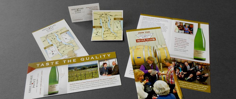sheldrake point winery brochures brand