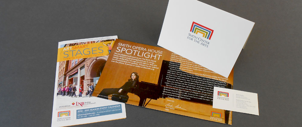 Smith Center for the Arts - ArtSmart program, thank you note, and business card designs