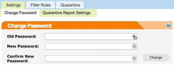 SpamTitan Profile Settings Screenshot