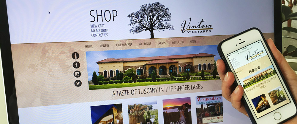 ventosa vineyards website inhouse graphic design