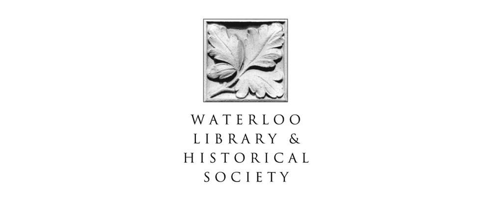 waterloo library and historical society logo
