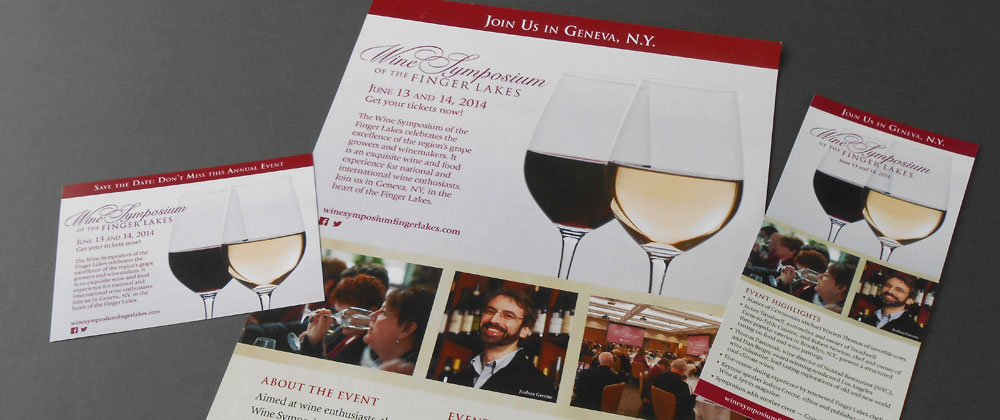 wine symposium card poster rack card brand