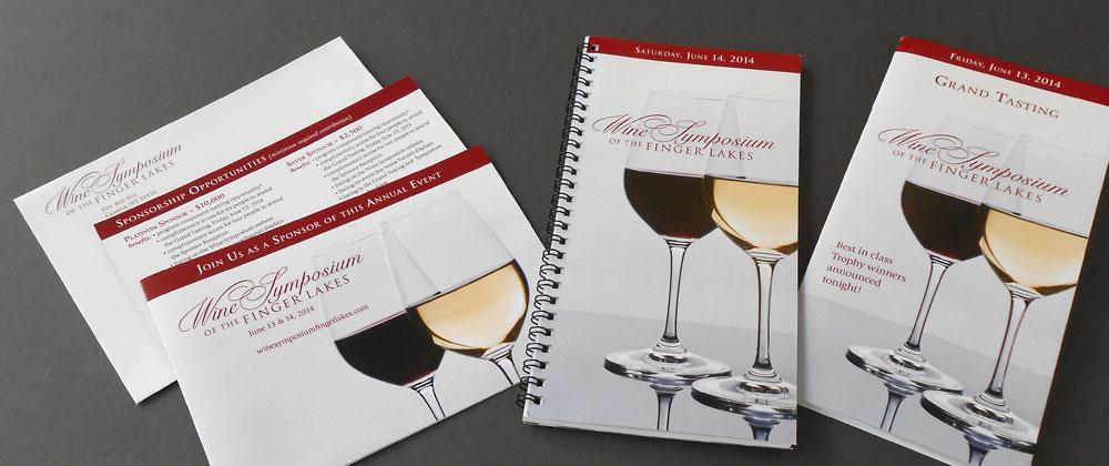 wine symposium sponsorcards event programs